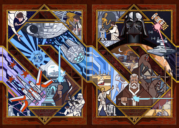 Scenes From Star Wars Illustrated As Beautiful Stained