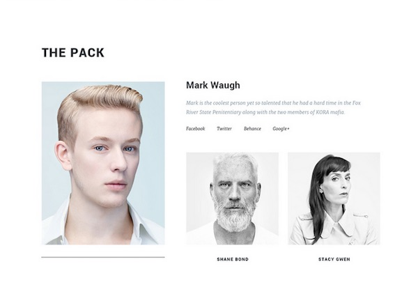 A Clean, Sophisticated Portfolio Template For Freelancers, Creatives