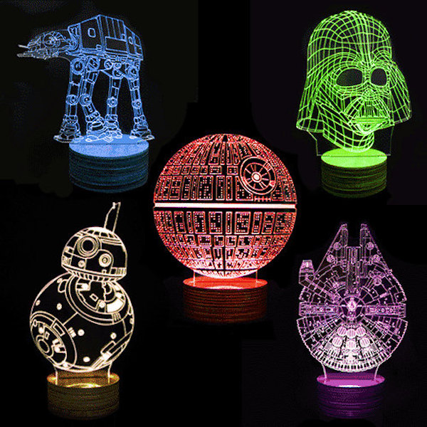 For Star Wars Fans Intricate 3d Lamps Featuring The