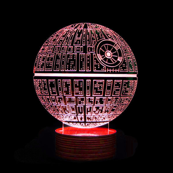 For U0027Star Warsu0027 Fans: Intricate 3D Lamps Featuring The Death Star, R2 D2    DesignTAXI.com