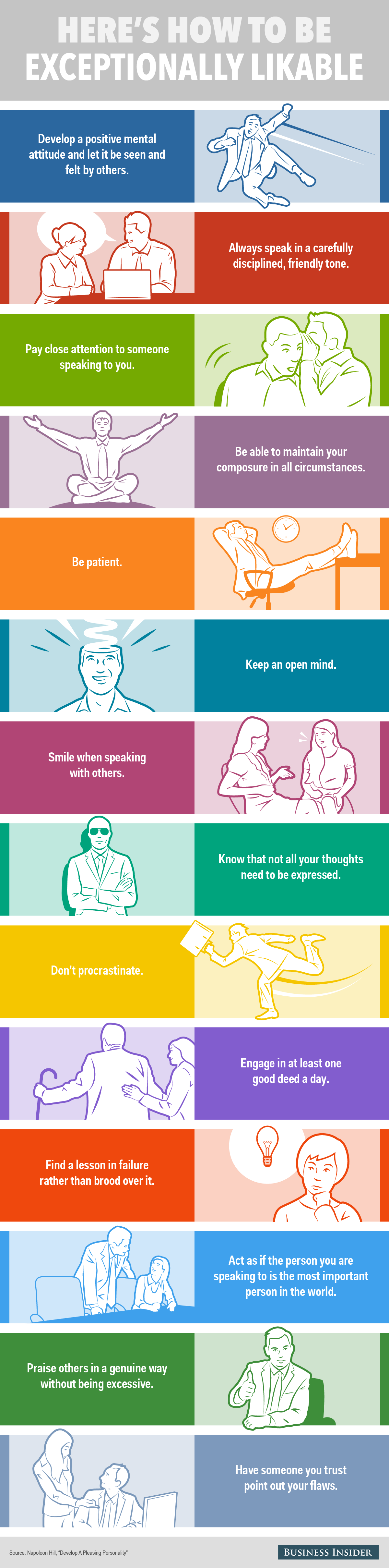 Infographic: 14 Habits Of Exceptionally Likable People ...