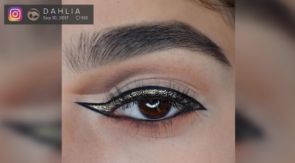 After Squiggly Brows, The Reverse Cat Liner Is The Latest Makeup Trend To Try