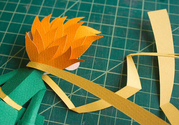 A Gorgeous, Handmade 3D Paper Craft Illustration Inspired By