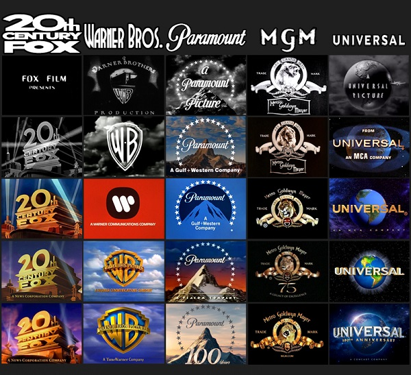 This Visual Shows The Evolution Of Major Movie Studio Logos Over The Years