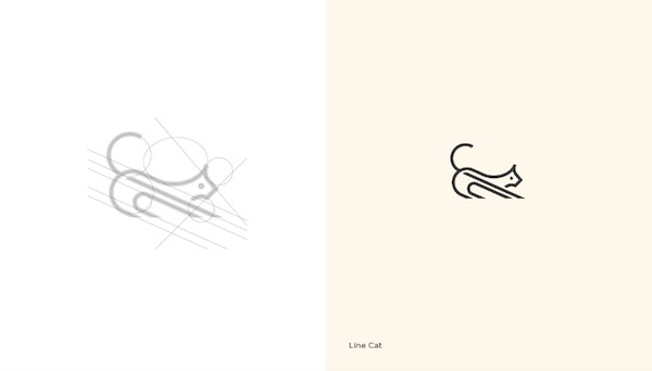 Clean, Minimal, Grid-Based Logos Stand Out With Negative Space, Simple Lines