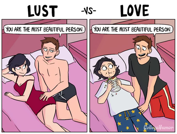 Accurate Comics That Illustrate The Key Differences Between Lust And Love - DesignTAXI.com