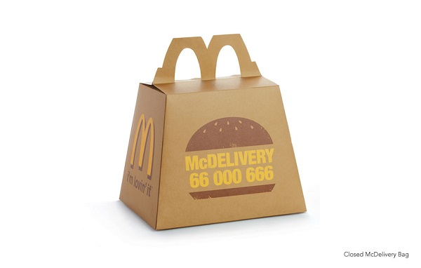Mcdonald S Creative Delivery Bags Transform Into Trays