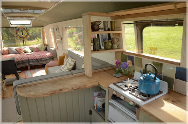 Rustic Tiny Bus Home Is An Idyllic Getaway In The Stunning