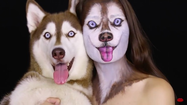 Watch: Makeup Artist Impressively Transforms Into Her Pet Husky