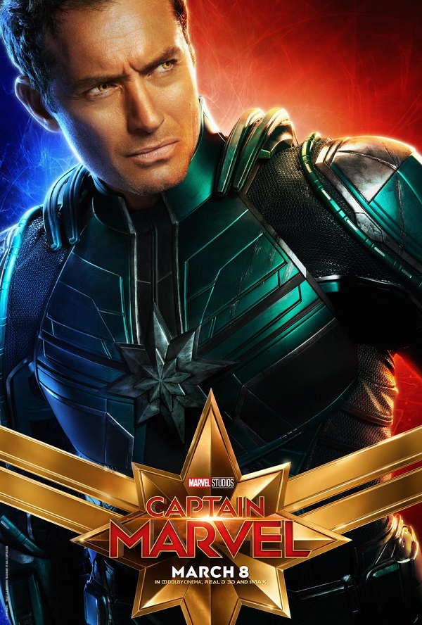 Latest 'Captain Marvel' Posters Has An Unexpected Character Stealing The Show