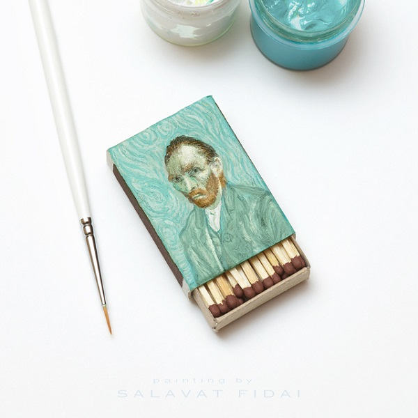 Vincent Van Gogh's Famous Paintings Skillfully Reproduced On Matchboxes