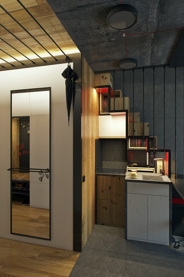 An 18 Square Meter Microapartment That Is Surprisingly