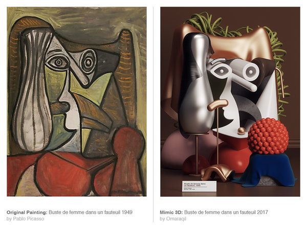 Pablo Picasso's Paintings Get Recreated Into Absolutely Stunning 3D Forms