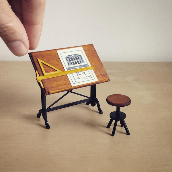 Lawyer quits job to make charming miniature furniture for Miniature architecture