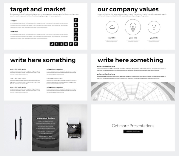 you can download this powerpoint template for free here - Minimalist Powerpoint Template Free 2