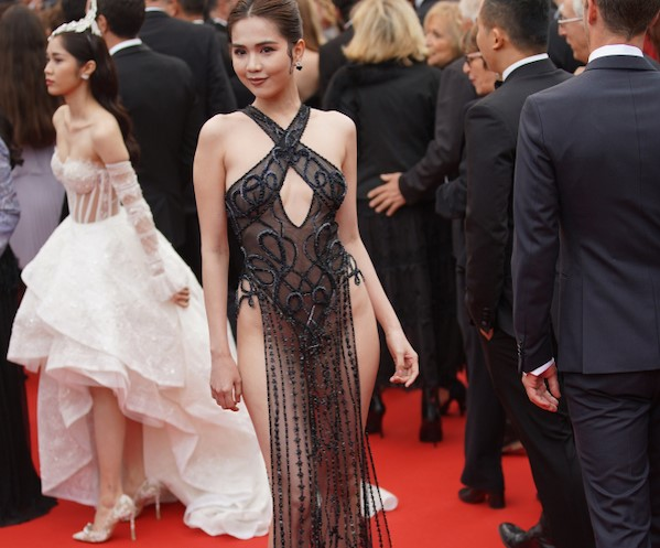 Vietnamese Model Leaves Little To Imagination At Cannes