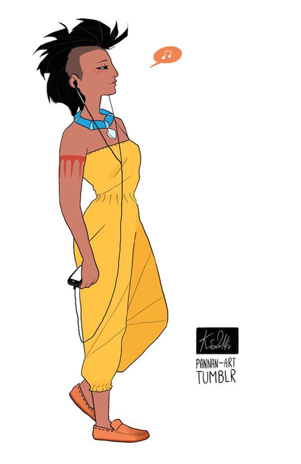 Disney Princesses Reimagined As Modern-Day People Based On ...