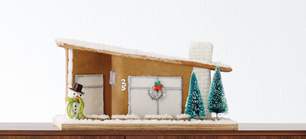 Learn How To Make A Chic Modern Gingerbread House This