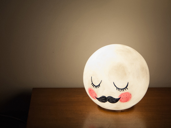 Amazing How To Turn An IKEA Lamp Into An Adorable U0027Mister Moonu0027 Night Light    DesignTAXI.com