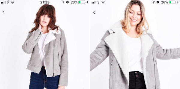 805bae01cb New Look has been slammed for charging more for a plus size coat which is  very similar to one in the standard size range.