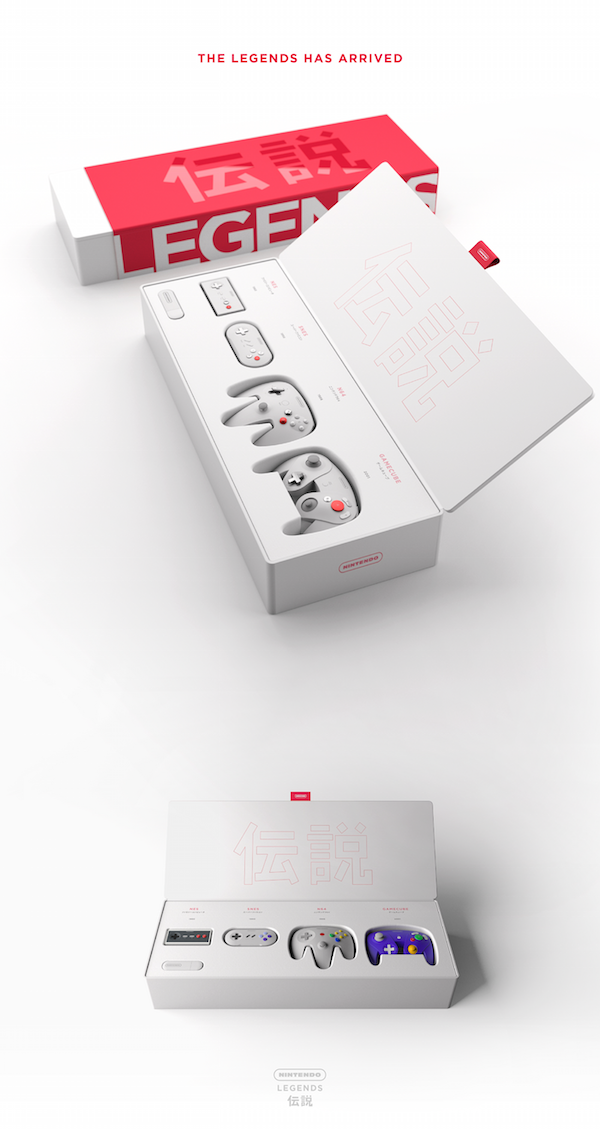 A Modern, Minimalist Redesign Of Nintendo's Classic Controllers