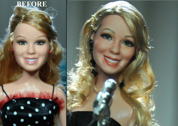 artist skillfully repaints celebrity dolls  makes them look amazingly lifelike