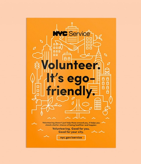 volunteer poster design colorful minimalist print posters designed to