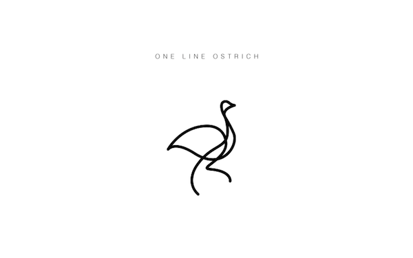 Single Line Character Art : Clever illustrated animal logos drawn with a single line