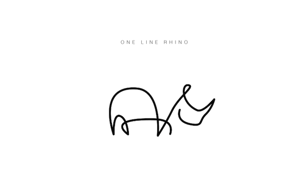 Single Line Drawings Of Animals : Clever illustrated animal logos drawn with a single line