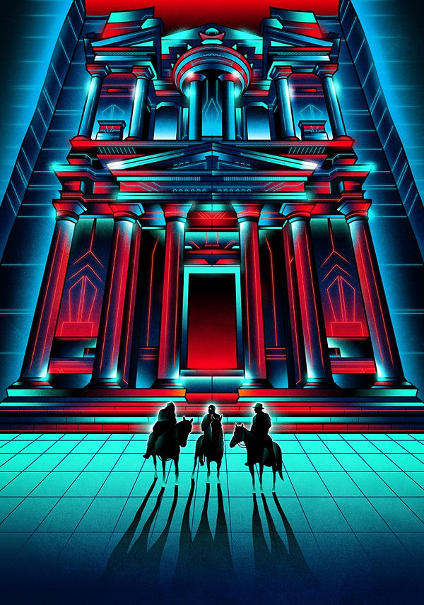 Bright, Retro Neon Posters Shows Protagonists' Perspectives In Famous Films
