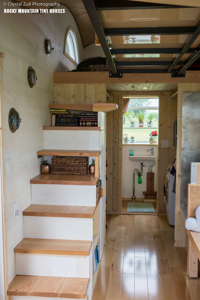 Whimsical Tiny House For Four Contains Loft Bedrooms Connected By