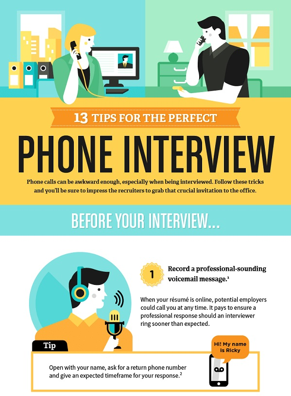 Infographic: 13 Tips For The Perfect Phone Interview - DesignTAXI.com