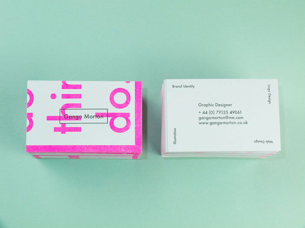 Bright creative business cards piece together to form an graphic designer ganga morton came across an interview with renowned dutch designer karel martens and was very inspired by one of his quotesi think colourmoves