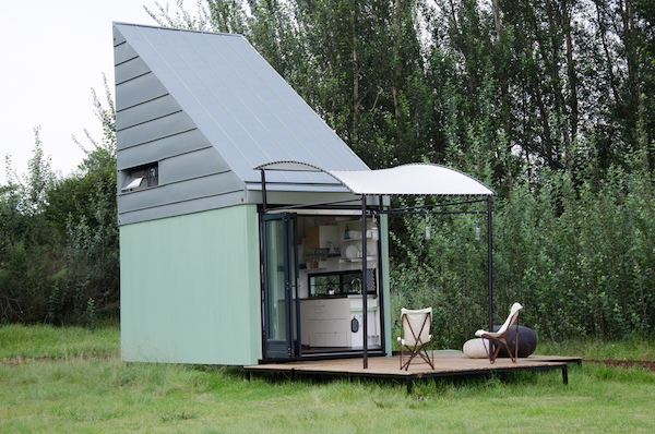 and product design company dokter and misses have designed a mobile tiny home called which comes delivered in a box and