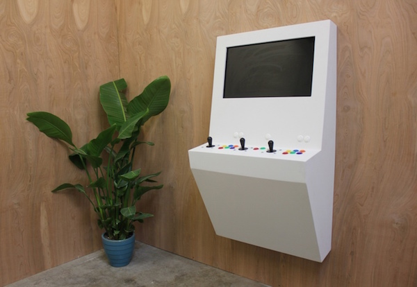 Sleek, Modern Arcade Machine Made For The Home Plays Beloved Classic Video Games - DesignTAXI.com