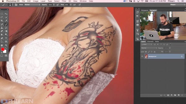 Photoshop tips how to remove tattoos and other marks on for Ways to remove tattoos