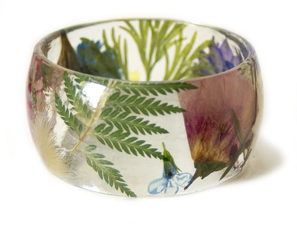 Pretty Handmade Jewelry Features Real Flowers And Foliage