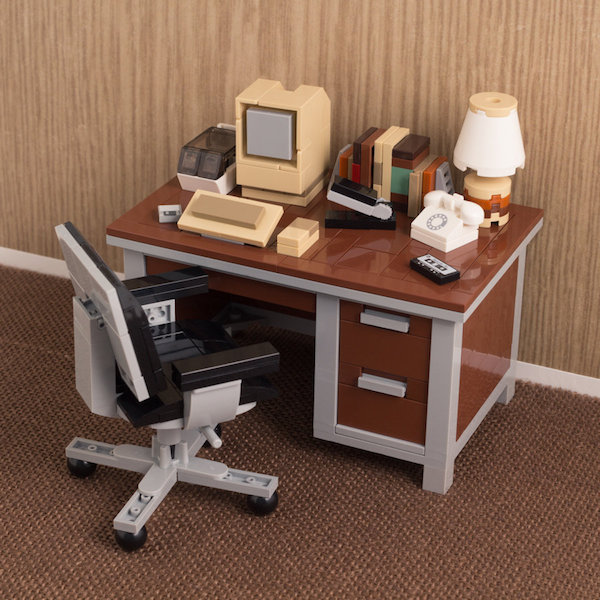 LEGO Models Of Retro Desktops Featuring Vintage Computers, Office ...