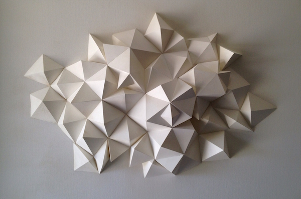 Striking Origami Inspired 3d Geometric Paper Sculptures That Pop Out From Walls Designtaxi Com