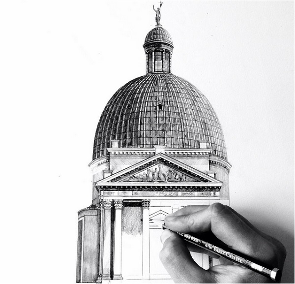 Gorgeous photorealistic architectural drawings of famous for Architectural plans of famous buildings