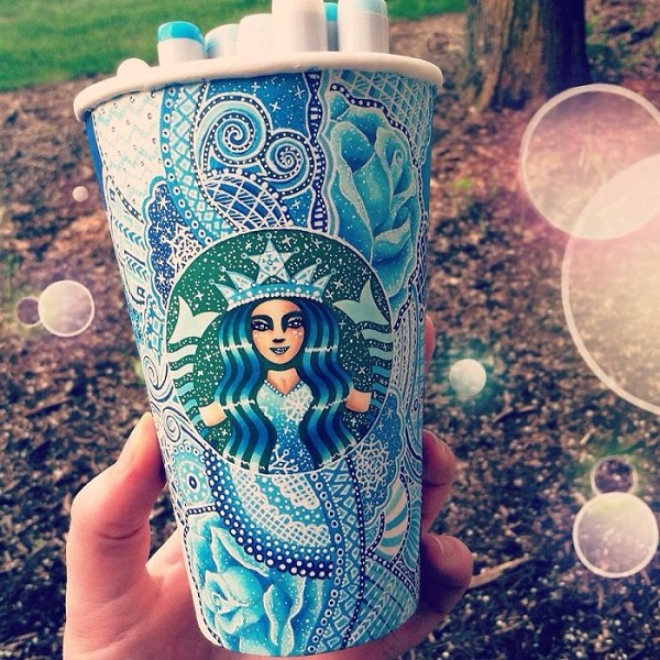 Gorgeous Starbucks Cups Decorated With Eye Catching Intricate