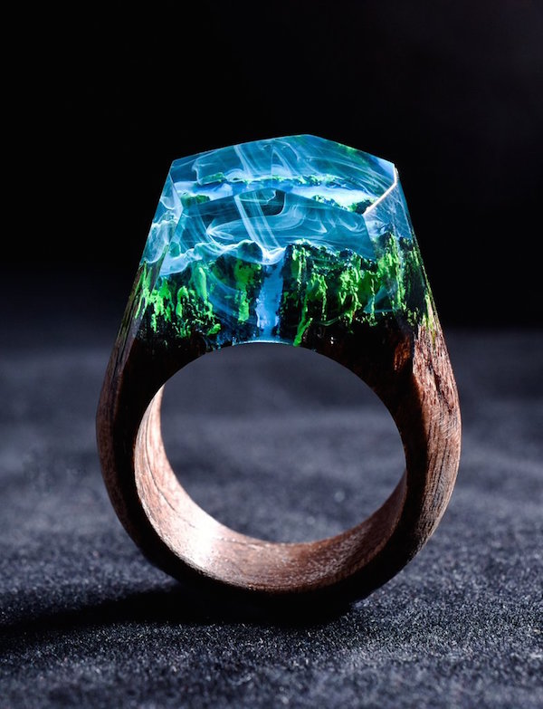 Enchanting Resin Rings That Hold The Northern Lights. Ideal Wedding Wedding Rings. Normal Engagement Rings. Artificial Rings. Natural Rings. Twisted Vine Engagement Rings. Prongless Engagement Rings. Fitting Rings. Ornament Rings