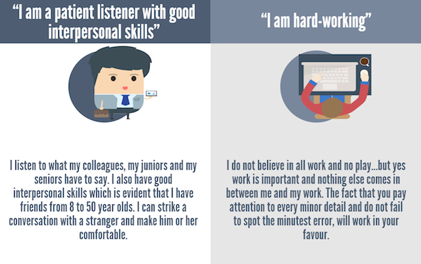 infographic the words to use when promoting yourself at a