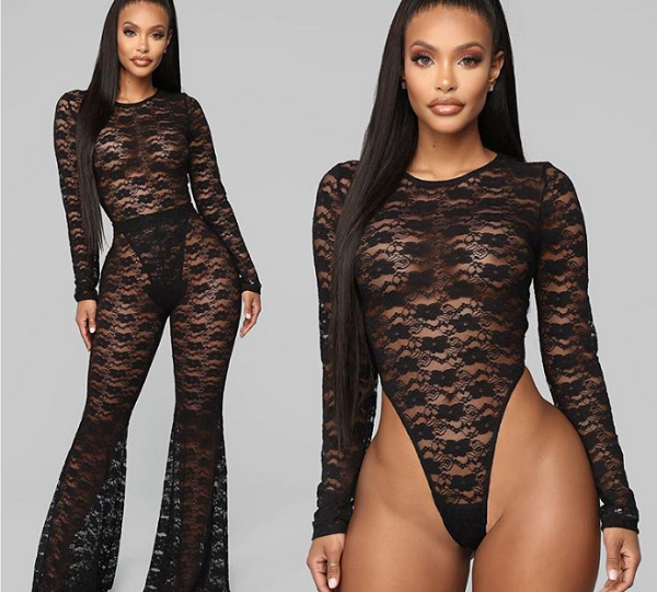 36fe6a67be8 Fashion Nova Accused Of Editing Model's Crotch To Look 'Smoother' In Lace  Suit