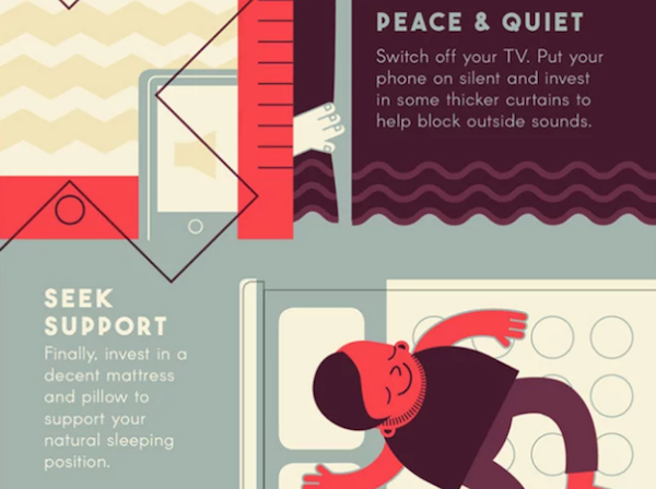 Infographic: A Cheat Sheet Filled With The Best Sleep Tips - DesignTAXI.com