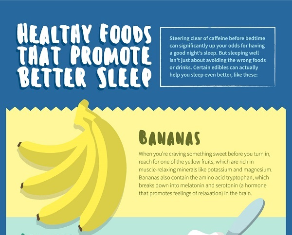 Infographic 10 Healthy Foods That Will Help You Sleep Better
