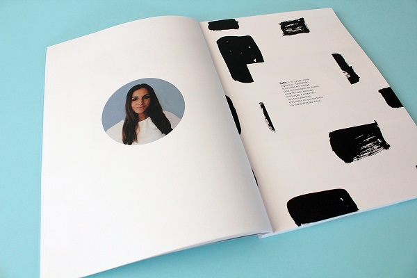 design student presents her portfolio as a minimalist understated