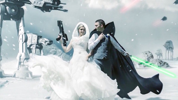 A Groom Recently Asked Photographer Tanya Musgrave To Create Unique Star Wars Themed Wedding Photo Inspired By The Battle Of Hoth In Empire Strikes