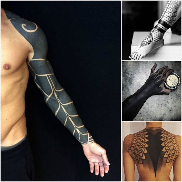 Classic and bold tattoo designs that will never go out of for Blackout tattoo back