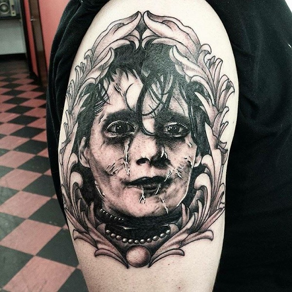 awesome tim burton inspired tattoos that are perfect for halloween. Black Bedroom Furniture Sets. Home Design Ideas
